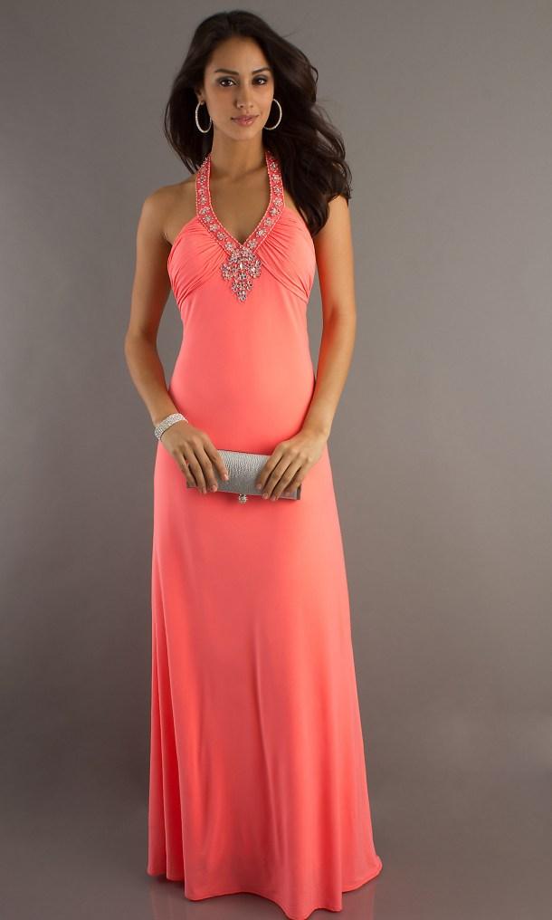 Платье для выпускницы 2013 - Неоновое платье