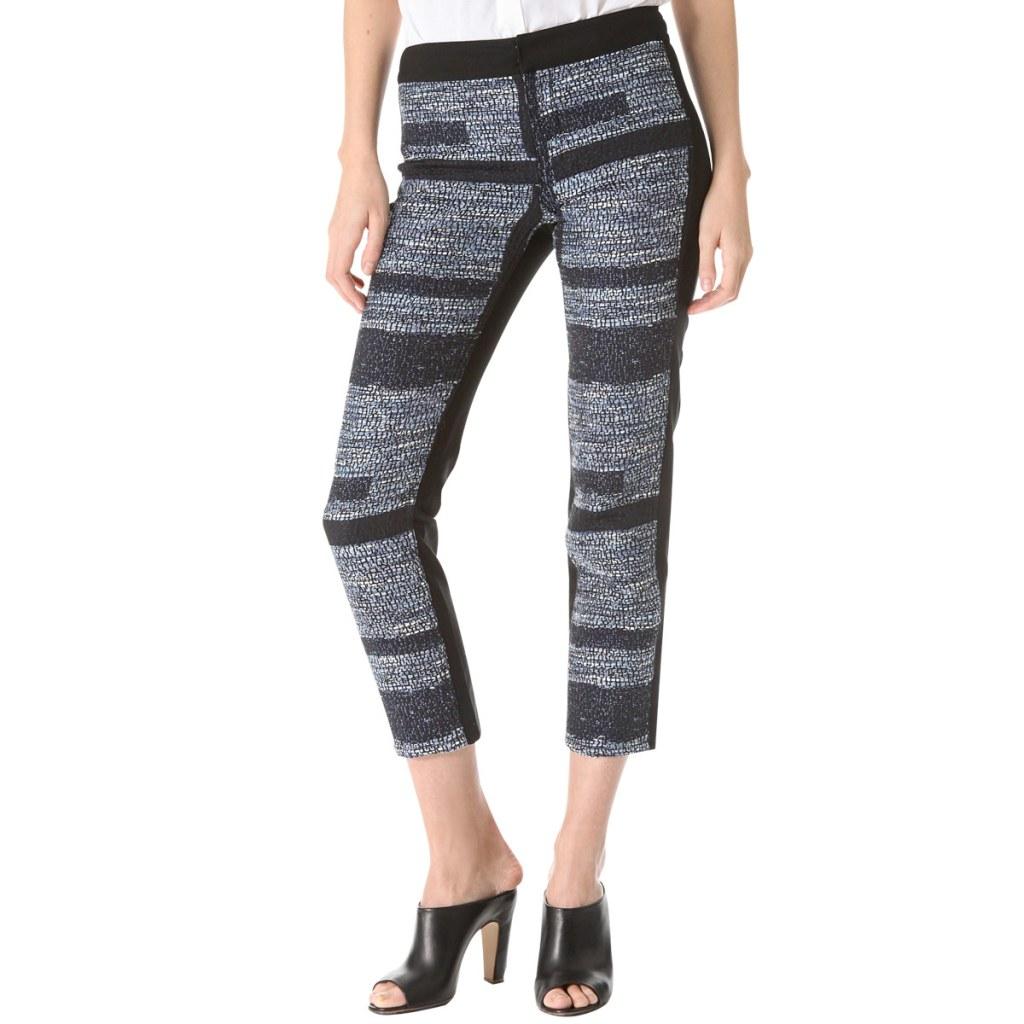 Весенняя тенденция 2013 лоскутная одежда брюки из лоскутов