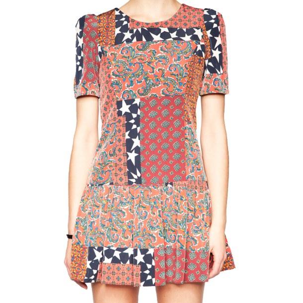 Весенняя тенденция 2013 лоскутная одежда и обувь - Платье из лоскутов от Anouk