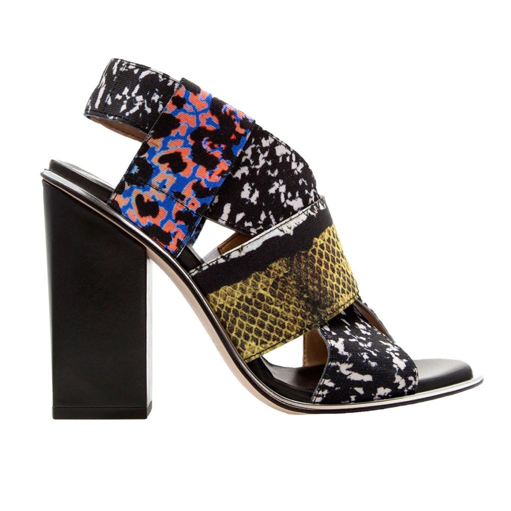 Весенняя тенденция 2013 лоскутная одежда и обувь - Туфли Zara из лоскутов