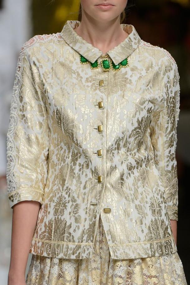 Одежда из парчи от Roccobarocco - Лето 2013 года