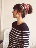 6 - Как носить шарфы с узором - Шарфики для волос