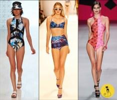 Купальник с ярким принтом - Тенденции модных купальников - лето 2014