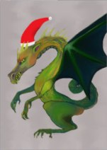 Holiday Dragon card