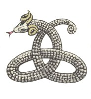 Celtic Horned Serpent