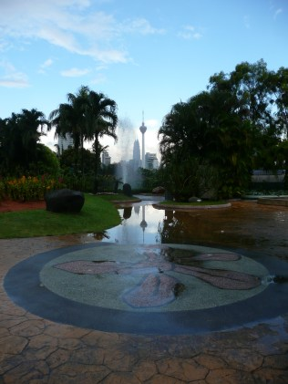 View from the Orchid Garden, KL