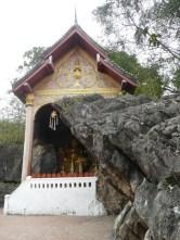 Temple built into a cave