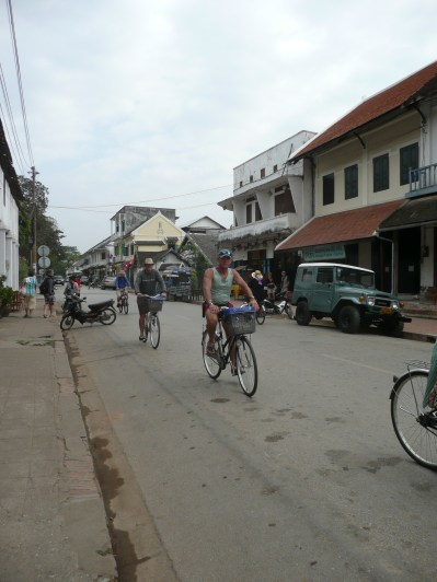 Bicyclists roam the streets