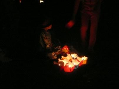 Street vendor selling lanterns