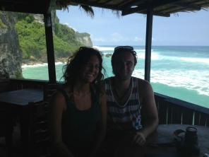 Sam and I at Uluwatu