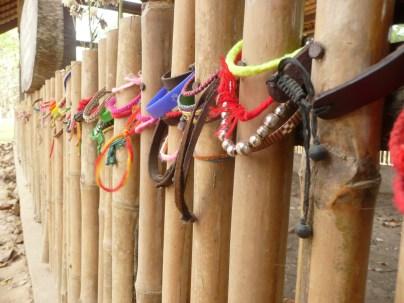 Bracelets in rememberance of those lost in the Killing Fields