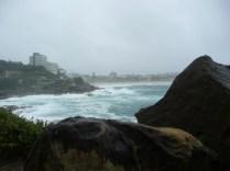Roaring ocean in the storm