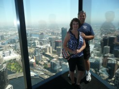 Parents at the top of the SkyDeck