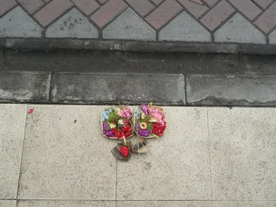 Hindu offering on the sidewalk