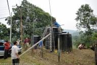 Kiulu 20 Jun 2013.Penduduk Kg.Ranap dan Kg. Poturidong Kiulu bergotong-royong membersihkan tangki air graviti di Kg. Ranap Kiulu.
