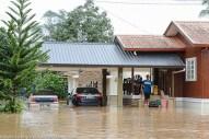 Kiulu 15 Januari 2014.Keadaan banjir di Kg. Kauluan.