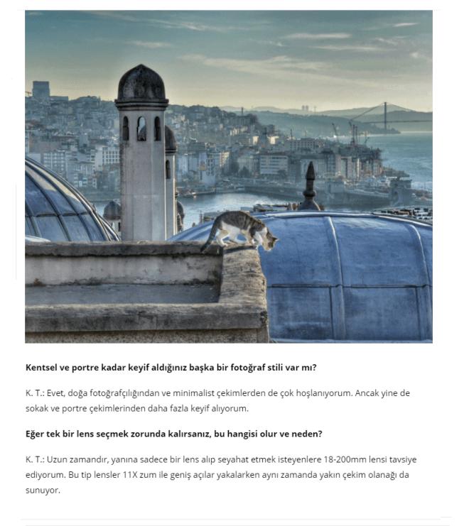 Nomads Dergisi Röportaj - Kıvanç Türkalp Fotoğrafçılık