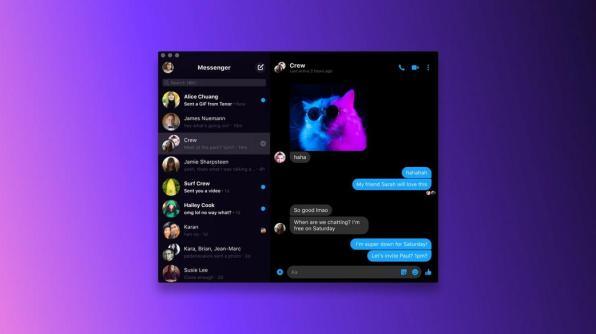 Facebook Messenger lance ses applications pour Mac et Windows