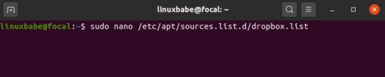 Comment Installer Dropbox sous Ubuntu 20.04 LTS