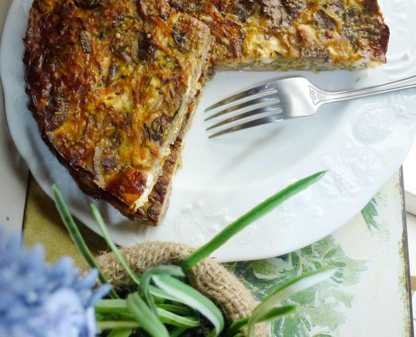 Fausse tarte de légumes  ( Sans céréales )