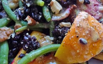 Salade de potimarron rôti au riz noir
