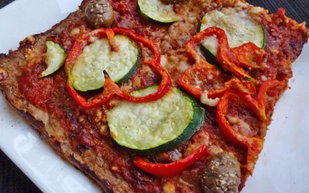 Comme une pizza en croûte de chou-fleur … ( Sans céréales )