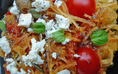 Spaghettis de courge ou courge spaghetti