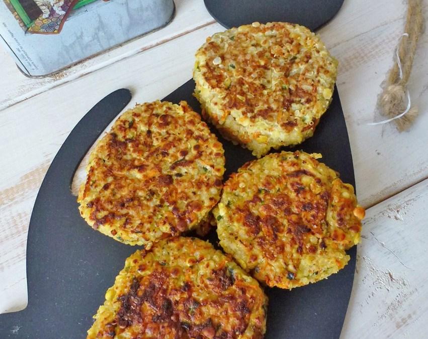 Galettes de quinoa aux légumes et fromage de brebis ( Sans gluten)