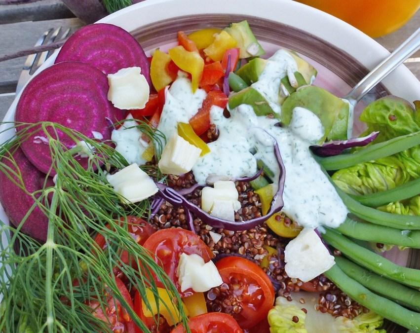 Salade de printemps au quinoa