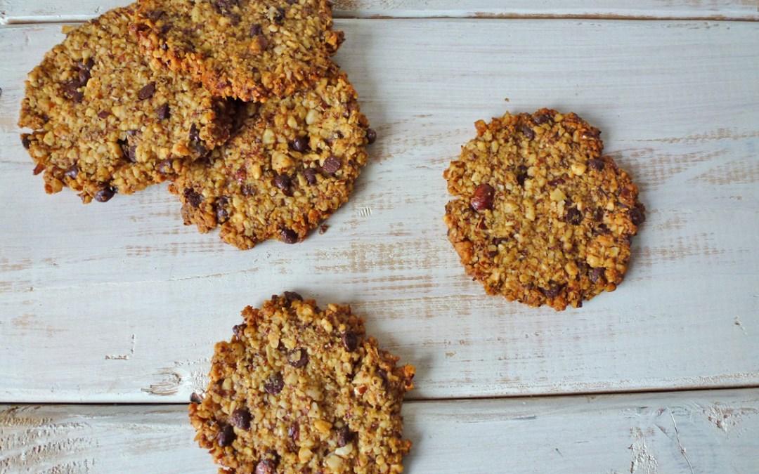 Cookies noisettes, orange, choco ( sans céréales, sans MG ajoutées, végan )