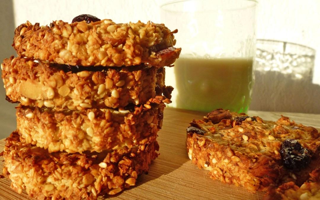 Big breakfast cookie aux flocons d'avoine  ( vegan, faible  teneur en sucre ajouté)