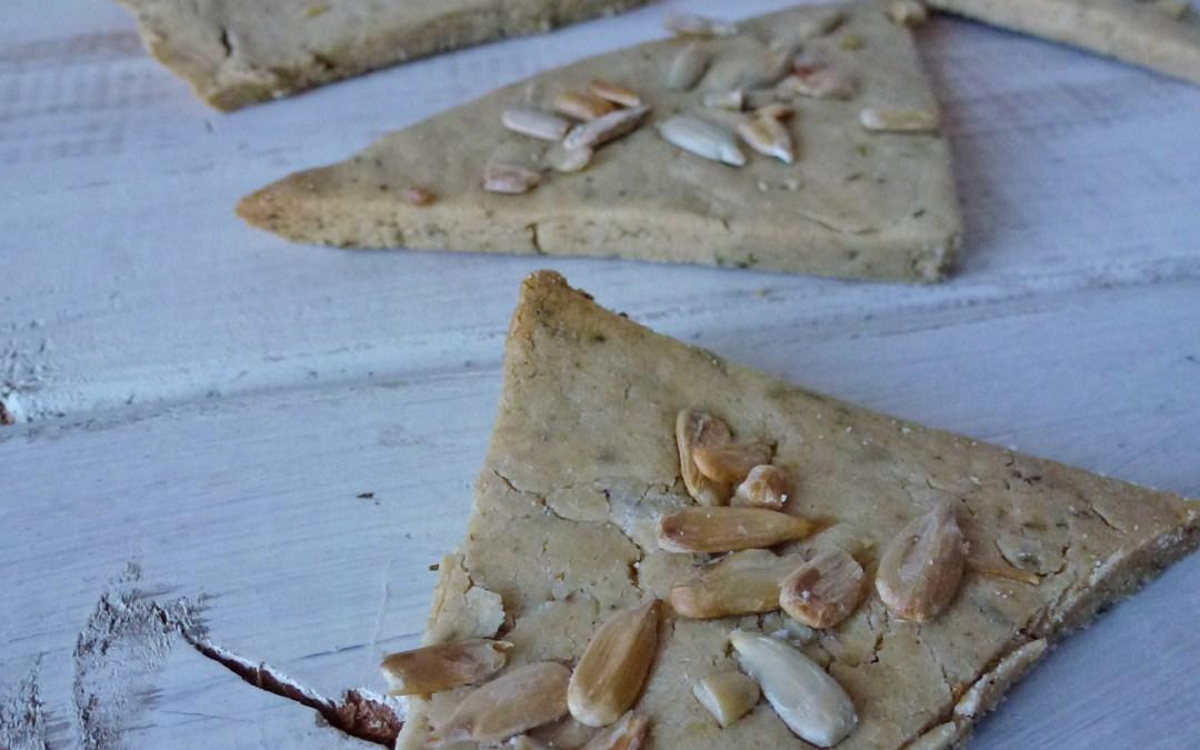 Crackers salés à la farine d'avoine et huile d'olive