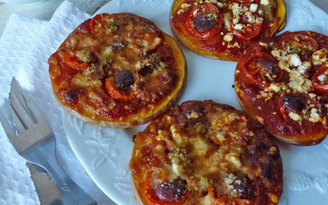 Comme une mini pizza…avec…du butternut ( Sans céréales, léger, sans gluten),