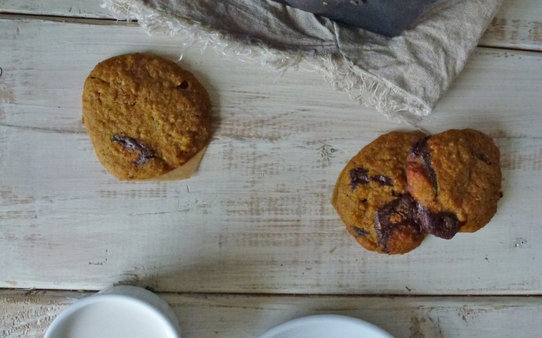 Cookies moelleux aux lentilles corail et chocolat ( vegan, sans gluten)