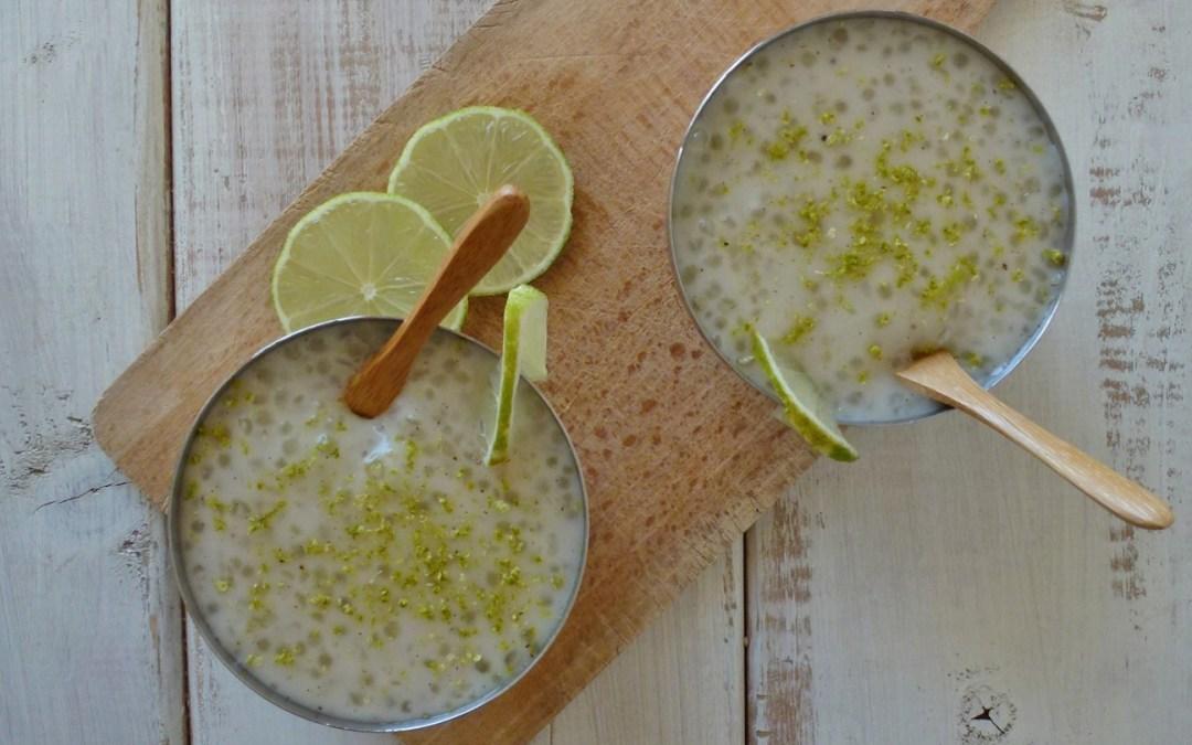 Perles du japon au lait de coco et citron vert ( vegan, sans gluten )