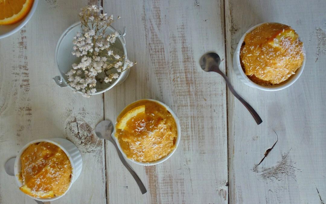 Sorbet tout léger orange coco, sans sorbetière… ( Raw, vegan )