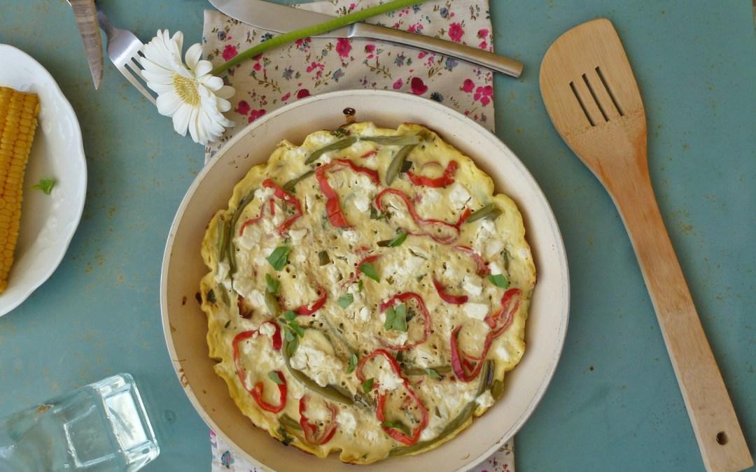 Version légère de la Frittata, aux légumes et la poêle  ( Allégée, sans gluten )
