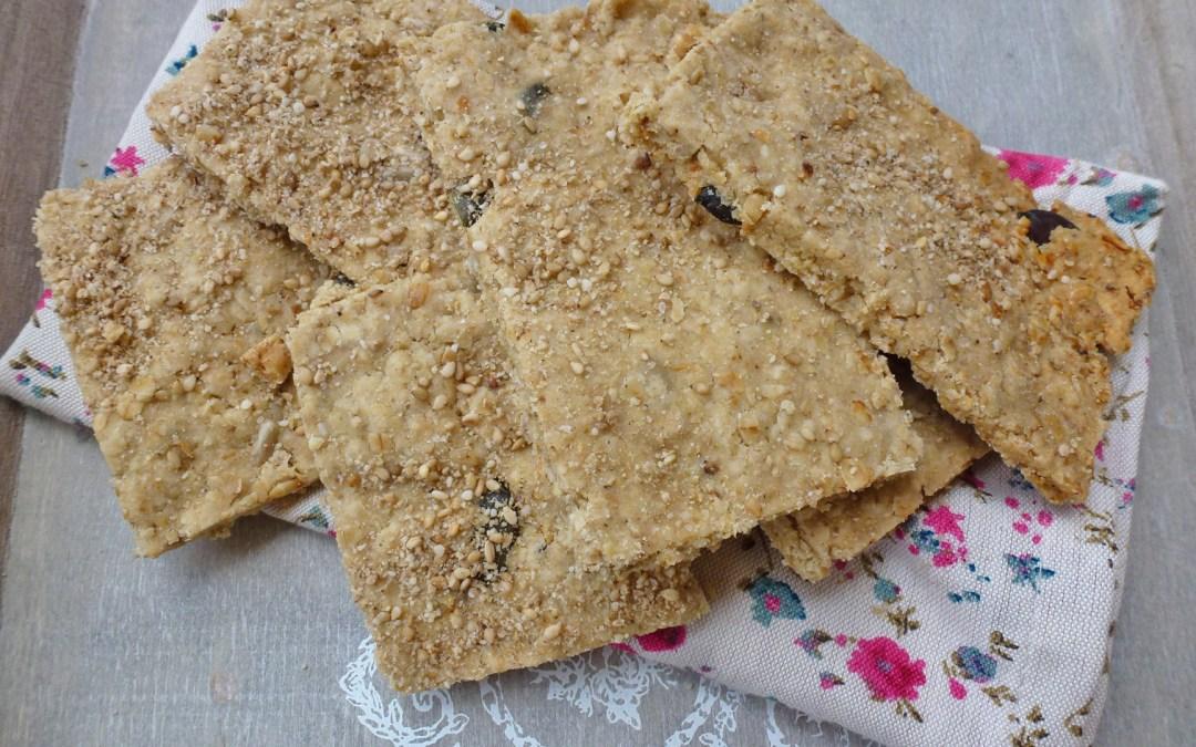 Crackers salés aux flocons d'avoine et farine de riz