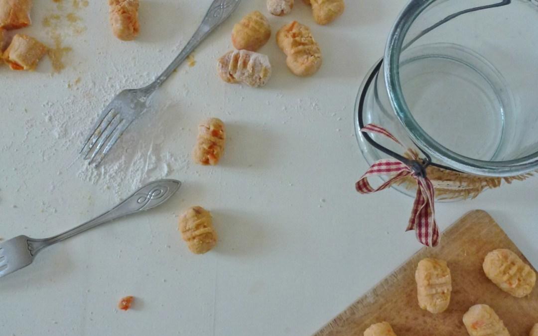 Gnocchis de pommes de terre,  patates douce et farine de riz  (  Sans gluten )