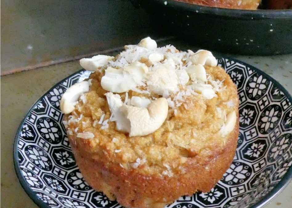 Muffins sans céréales aux noix de cajou et farine de coco ( Faible index glycémique )