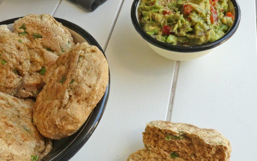 Petits pains express à la  farine de petit épeautre et coriandre fraiche