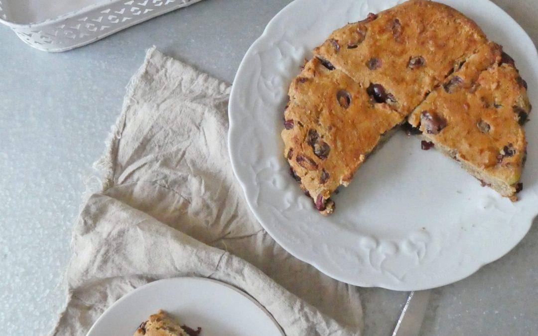 Scone à partager aux cranberries  ( Sans gluten, Vegan, sans sucre ajouté )