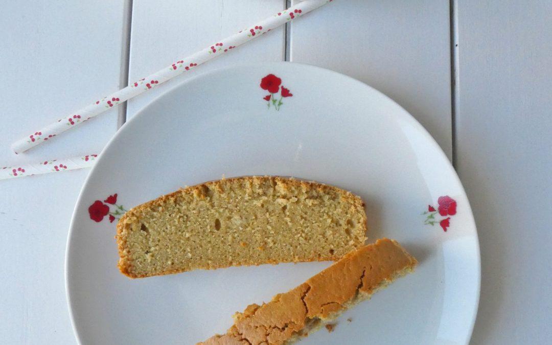 Le gâteau sain du matin, au beurre de cajou et jus de clémentines ( Sans gluten, allégé )