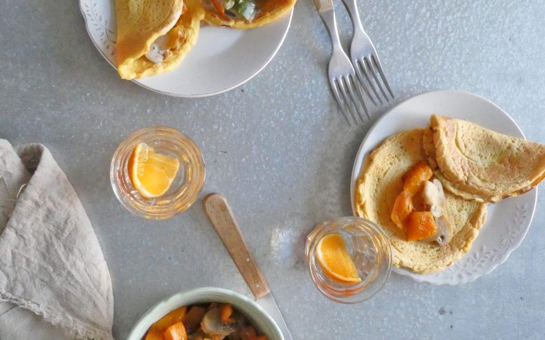 Omelette végétalienne  ( Sans céréales )