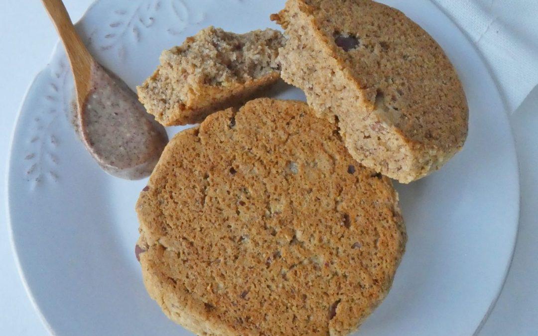 Scone sans gluten aux noisettes et zestes de citron ( Vegan )