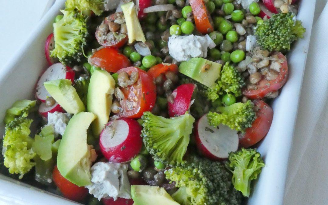 Salade complète  ( vegan, sans céréales )
