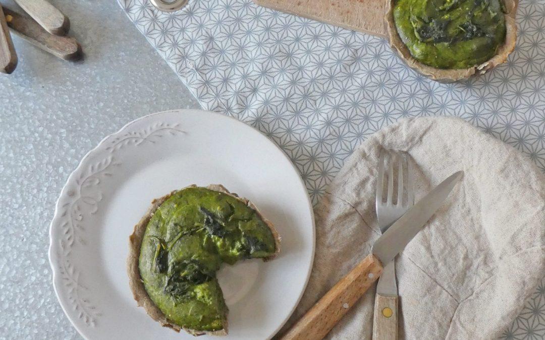 Tarte à la mousse d'épinards et fromage de brebis  ( Sans gluten )