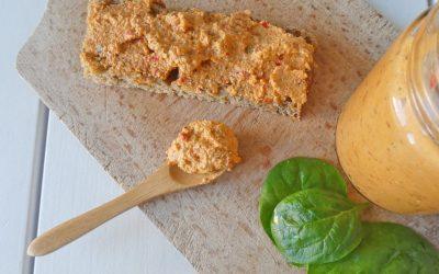 Tartinade vegan et raw  prévue pour l'atelier cuisine saine de kiwi-forme sur Palavas