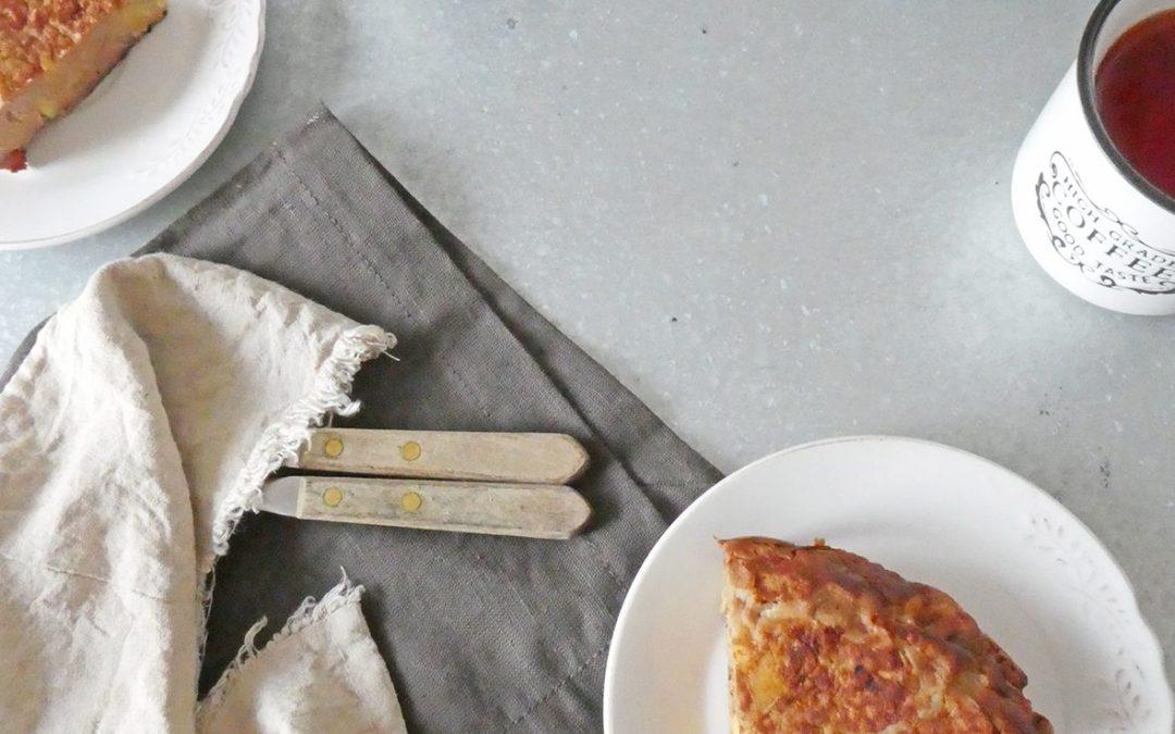La grosse crêpe à partager, aux pommes et farine de châtaigne …(Sans lactose, sans gluten, très peu sucrée)