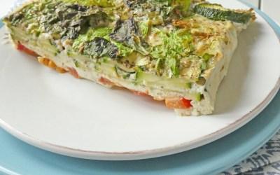 Flan tout léger,  légumes, origan et fromage chèvre/brebis ( Sans céréales )